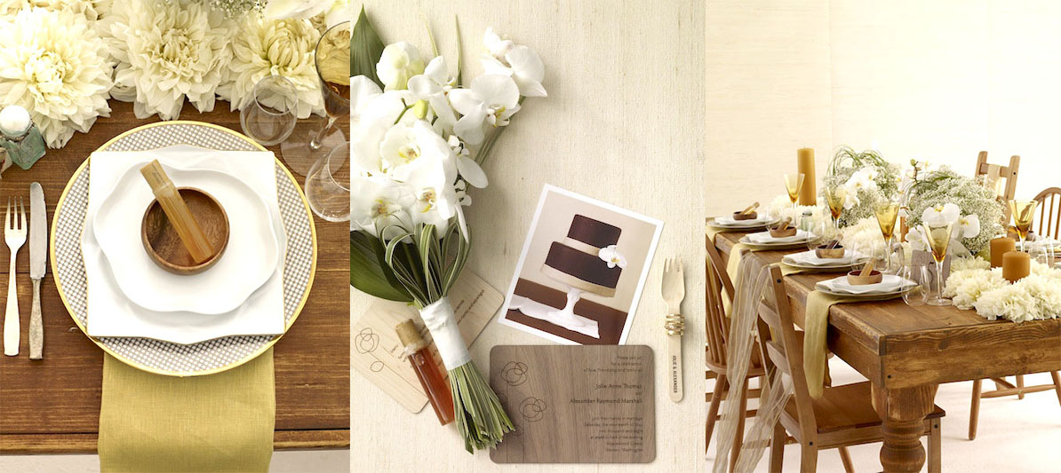 Bee Raw Wedding Table Placement