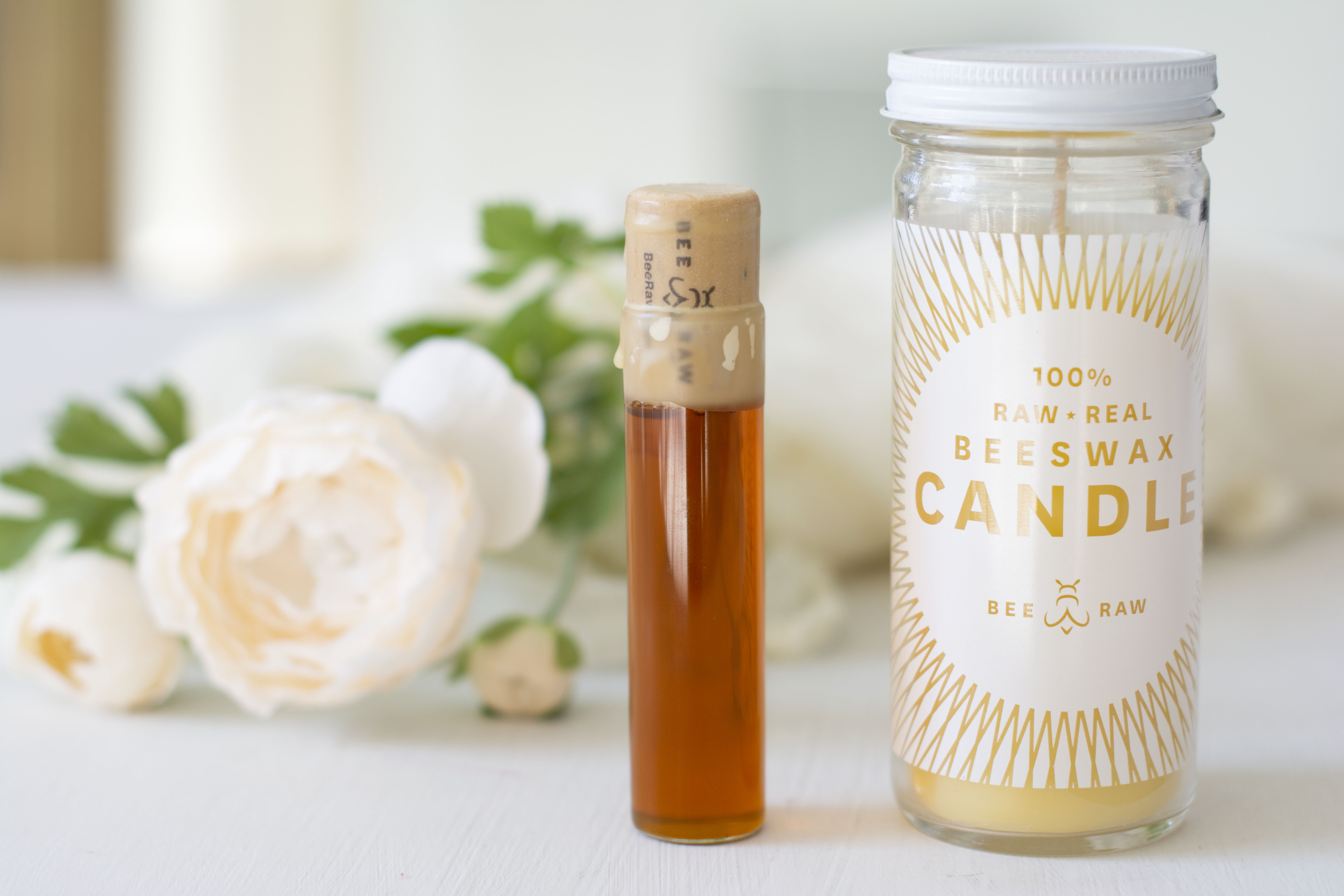 Bee Raw Wedding Beeswax Candle Tupelo
